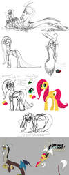 Older ponies concepts by grievousfan