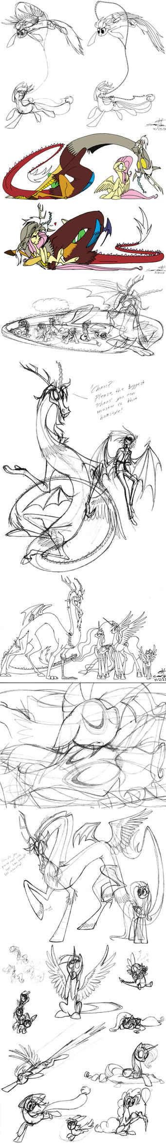 Some old pony sketches by grievousfan