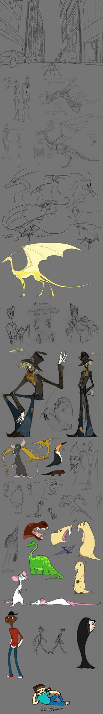 School sketches by grievousfan