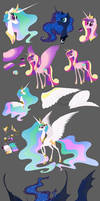 Pretty Pony Princesses sketches