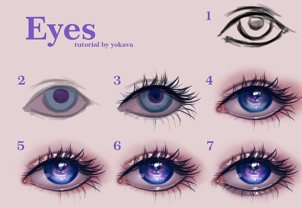 semi realistic eyes tutorial by yokava on deviantart