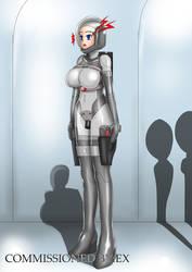 [Commission] Alien abductee by OtakuBouzu