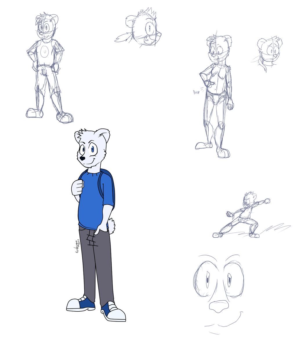 Character Design Genres : Steve styles finalized character design badvibe by