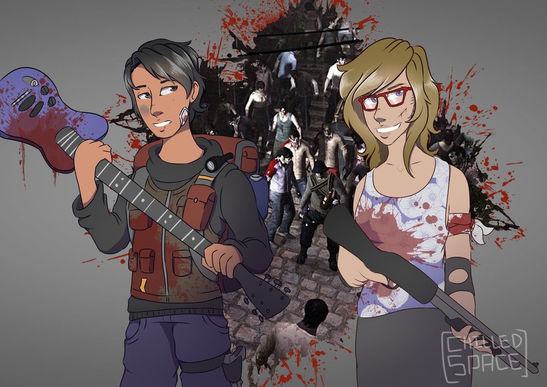 Lea and Dai [Left 4 Dead] by Chilled-Space