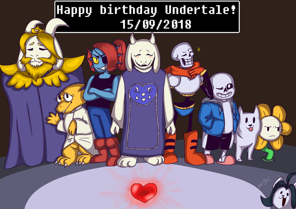 Undertale 3rd anniversary by Mary-Volt-htf