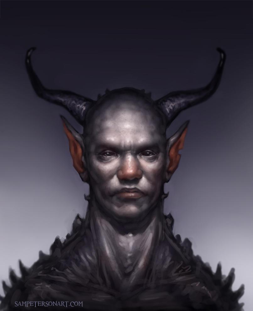 Monster man portrait by Sam-Peterson