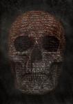 Typography Skull - Dark