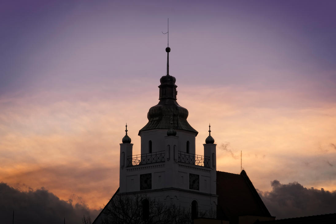 Evangelical church tower by snugsomeone