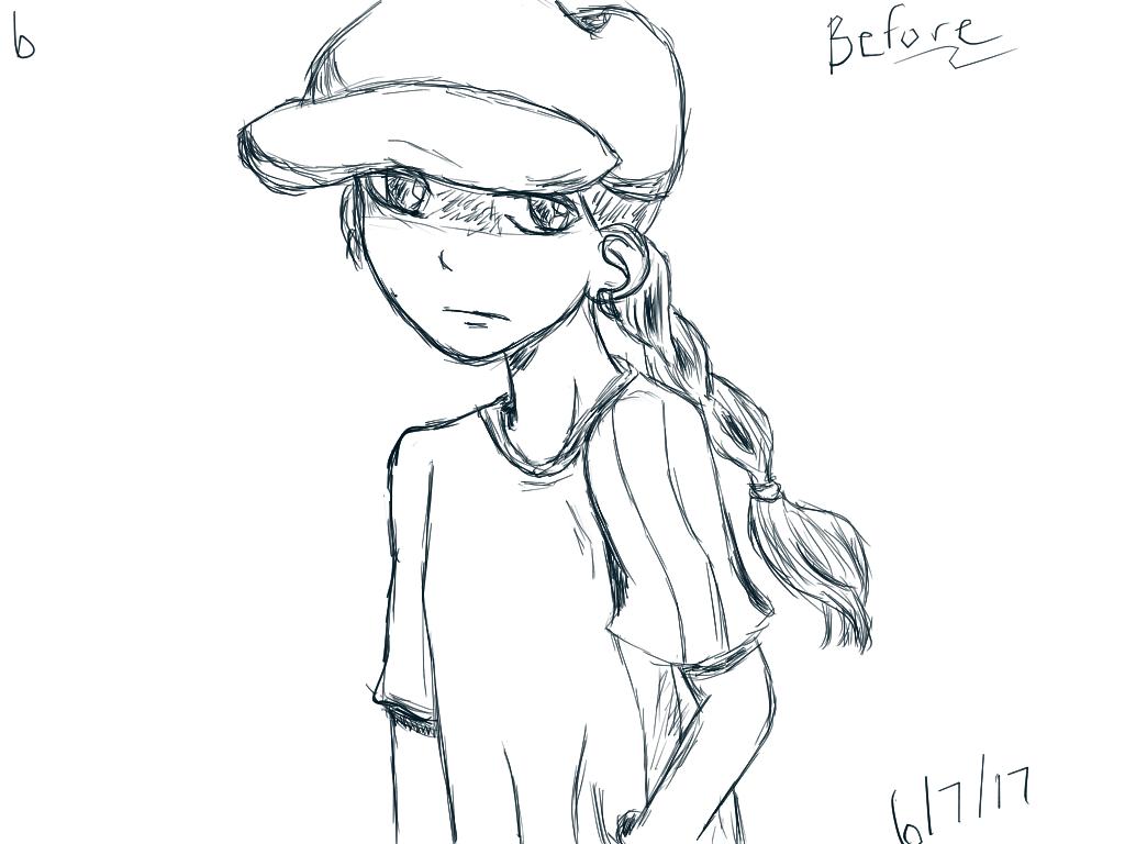 Tablet Practice 6 -6/7/2017 - Number 5 Sketch by SleepyRaeLi21
