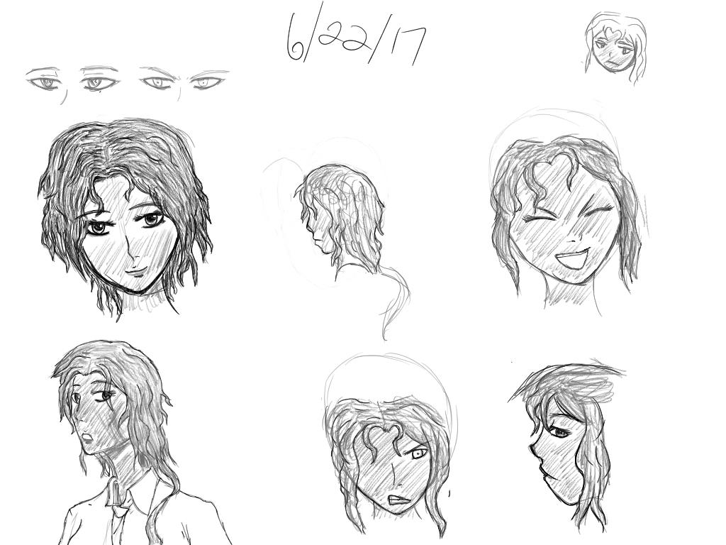 Tablet Growth #10 - LOH Comic: Rii Character Study by SleepyRaeLi21
