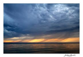 Storm Clouds on Lake Michigan by Julian-Bunker