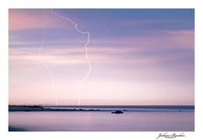 Lightning Over Lake Michigan by Julian-Bunker