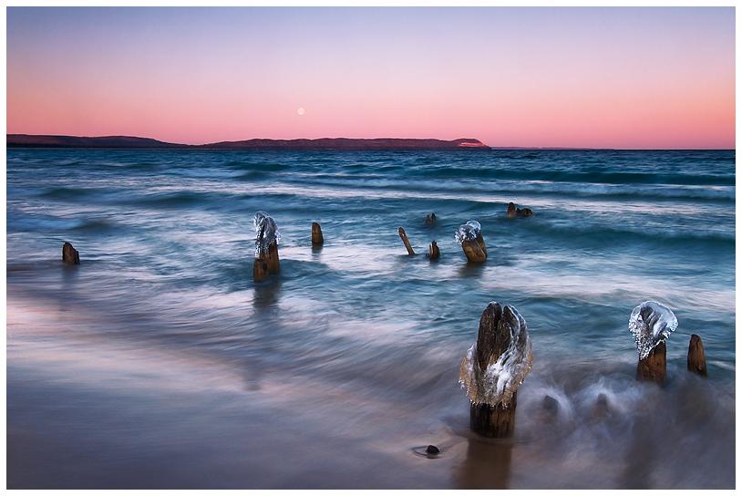 Good Harbor Moonset by Julian-Bunker