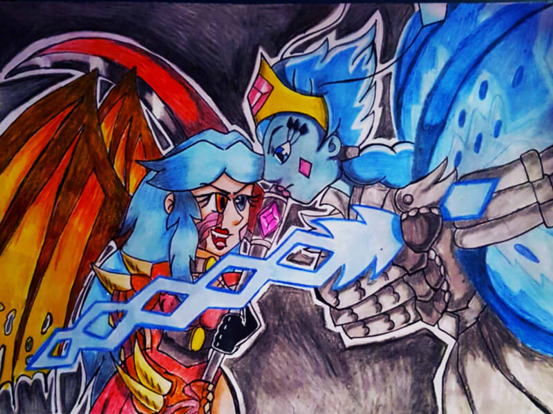 good vs evil by queenmoonbutterfly