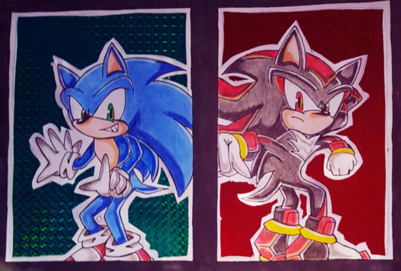 CE sonic and shadow by queenmoonbutterfly