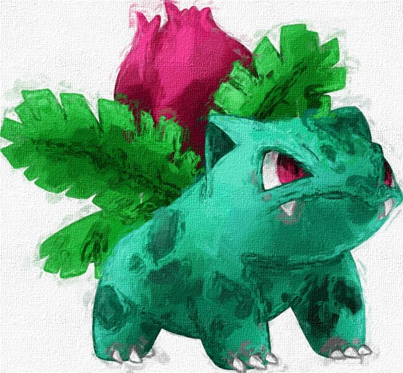 002 Ivysaur by zombiefriedchicken
