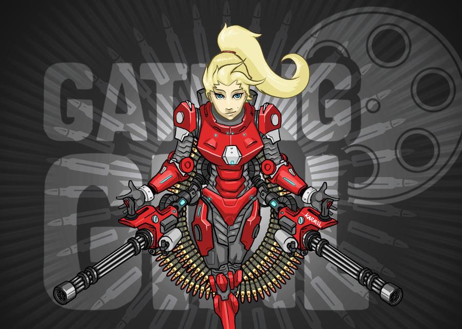 Gatling Girl by Kaptain-Karmel