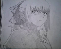 Saber's determined to fight by SrPwni