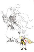 Sesshoumaru and mini by ridiqlum