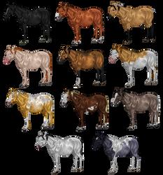 pixel horse - expectant mares by AguaZero