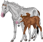 pixel horse - proud mother by AguaZero