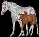 pixel horse - proud mother by AguaZero