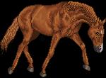 pixel horse - warmblood jog