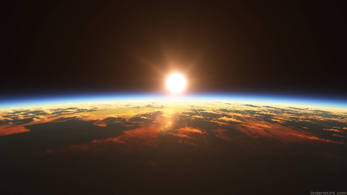 Orbital Sunset by CGStirk