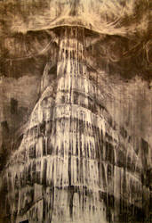 'Babel'charcoal version by A-Q-U-A-R-I-U-S