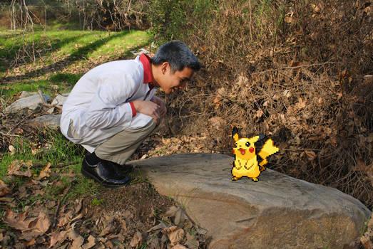 Pikachu and Professor Oak