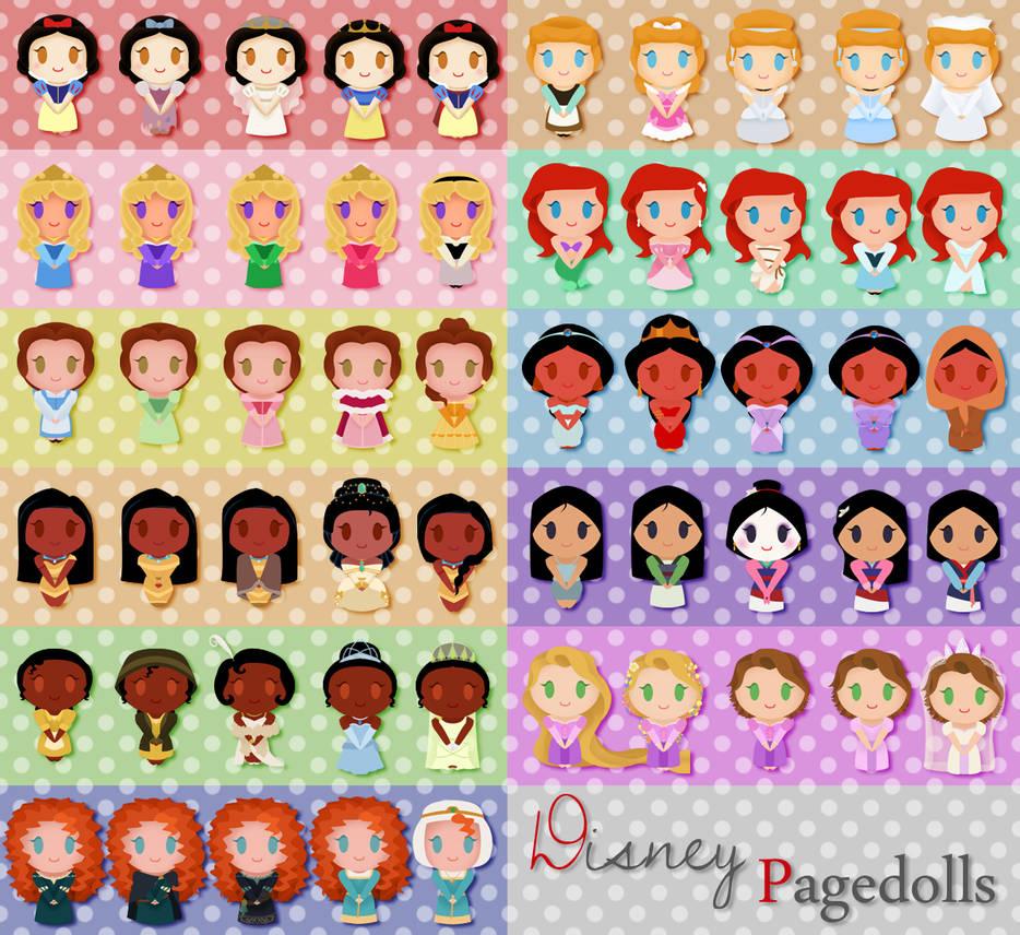 :Free to use Pagedolls - Disney Princesses: