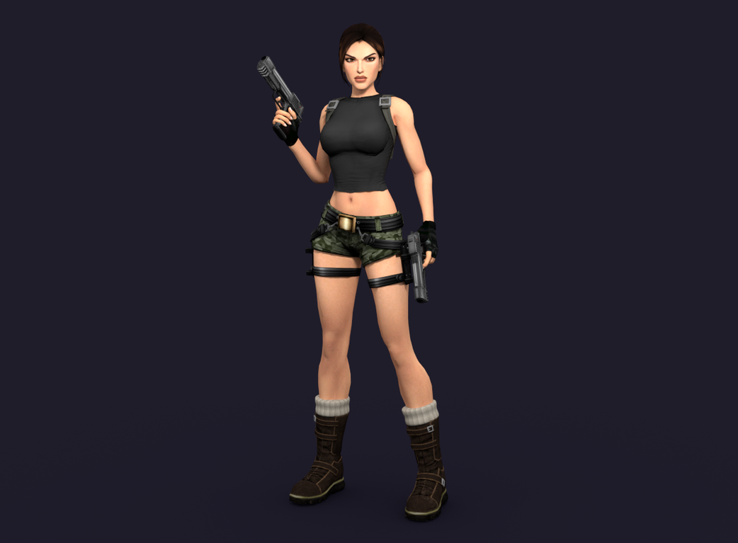 Lara Croft in Cycles 05 by trazuzen