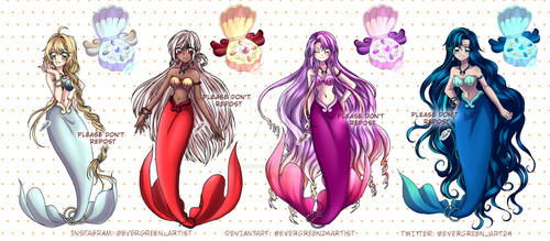 [CLOSED] Mermaid Melody Adoptables-by Evergreen