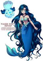 [Auction] CLOSED Mermaid Melody Blue Indigo Adopt