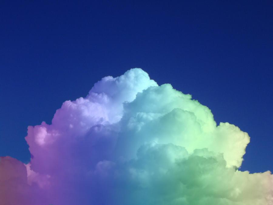 rainbow cloud by leesmilezz on deviantart