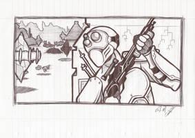 Starcraft Ghost by arok318