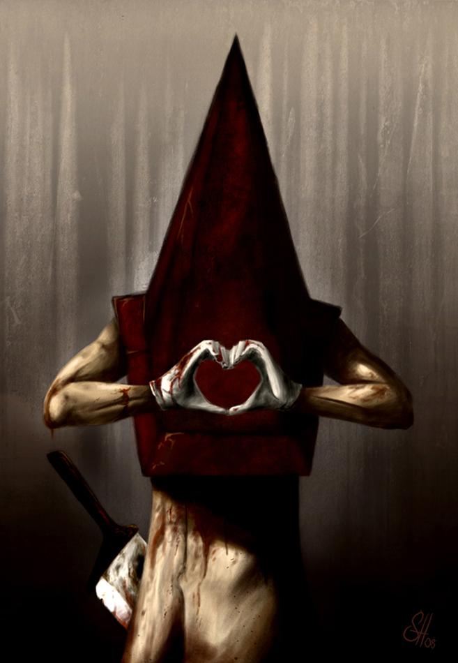historia y caracts de cabeza de piramide de Silent Hill