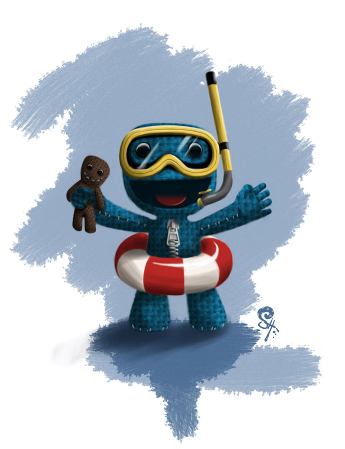 LittleBigPlanet 2's Cover Art Is Pretty Slick