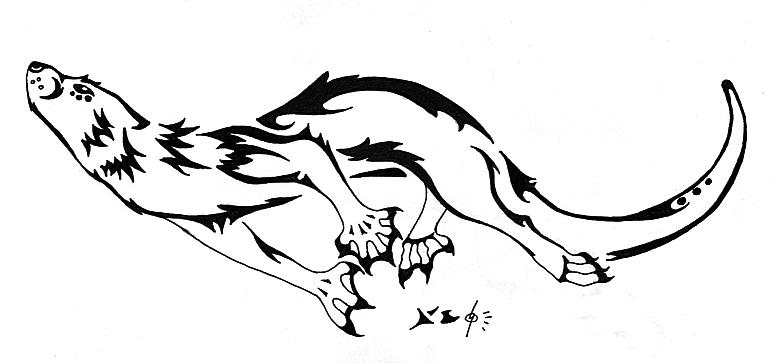 Otter Tattoo 1 By Fleech Hunter On Deviantart