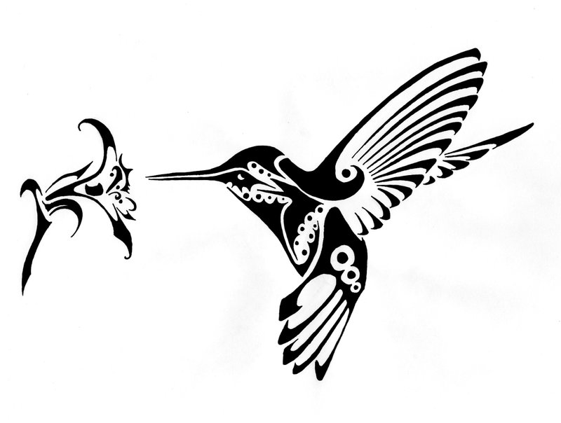 Hummingbird Xmas Gift | Flower Tattoo