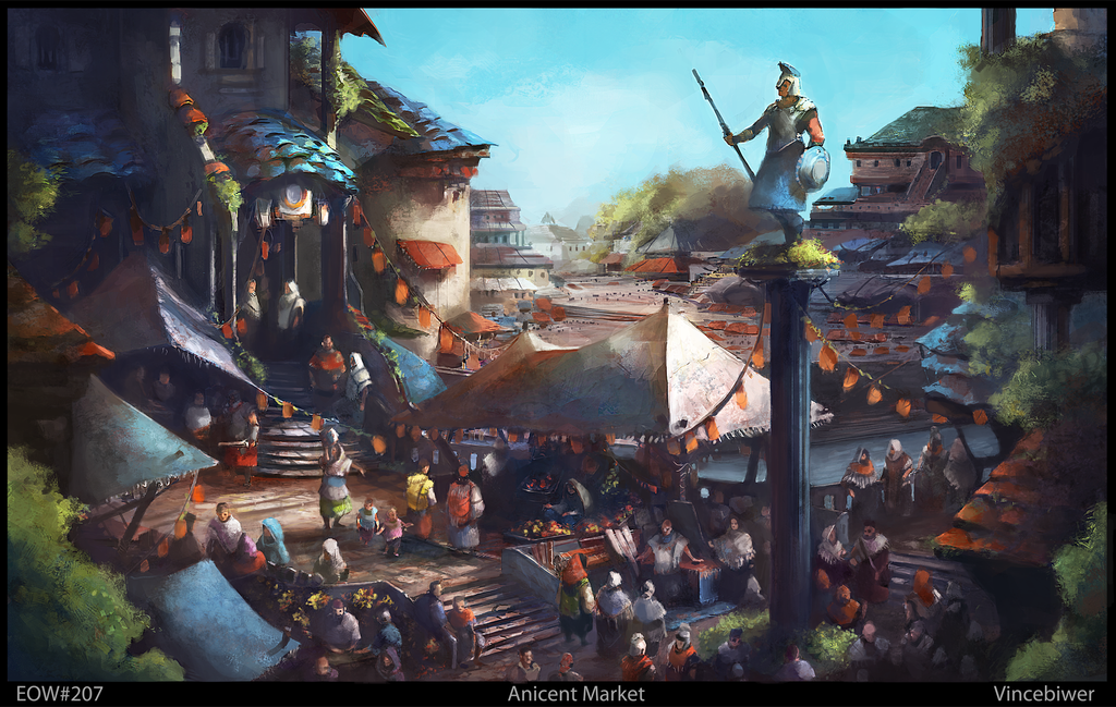 Ancient Market by BiwerVincent
