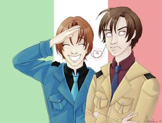 Hetalia - Italy bros. by sego-chan