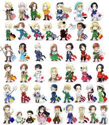 Hetalia - chibi nations by sego-chan