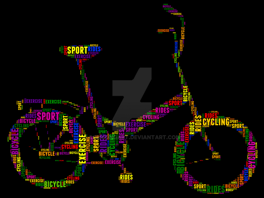 Bicycle 8 Typography by somsongart