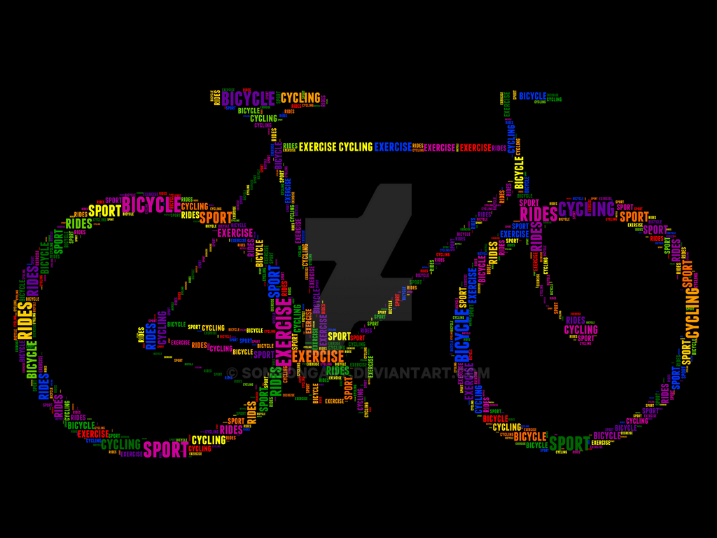 Bicycle 6 Typography by somsongart