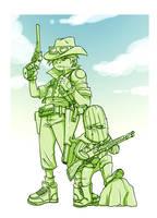 W.I.P cowboy and cacti by ah-tan