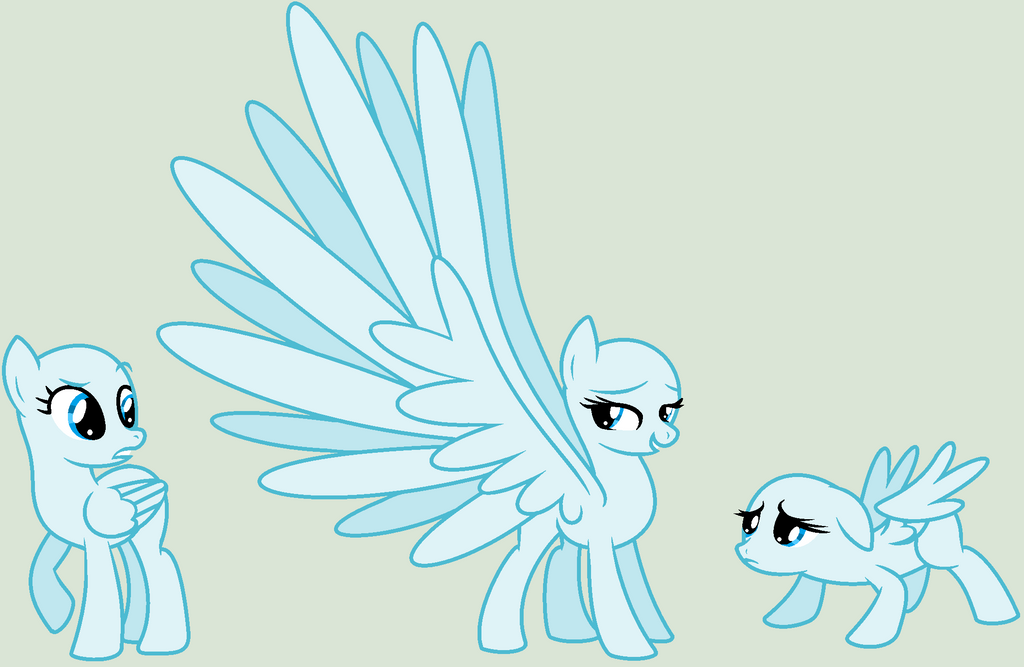My little pony base unicorn with wings - photo#14