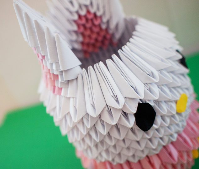 3d origami rabbit instructions