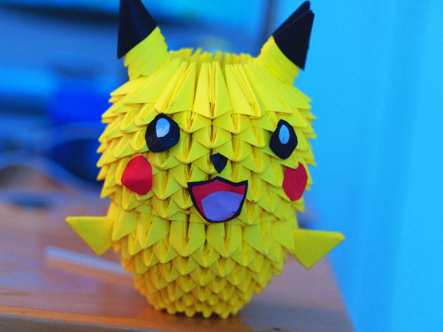 3D Origami - Pikachu by