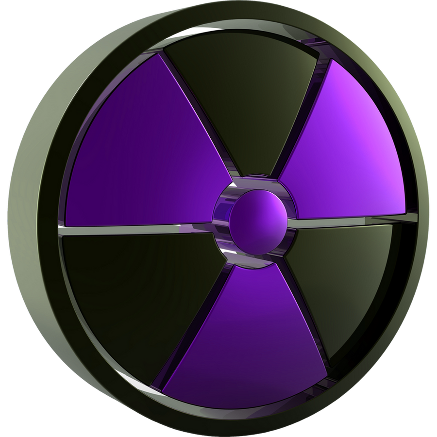 Radiation Symbol 3d Purple Dock Icon by climber07 on ...